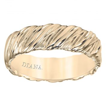Diana 14K 7mm Yellow Gold Soft Sand Band Wedding Band