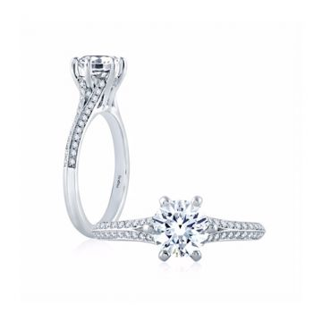Fire & Ice Olivia Diamond Straight Engagement Ring