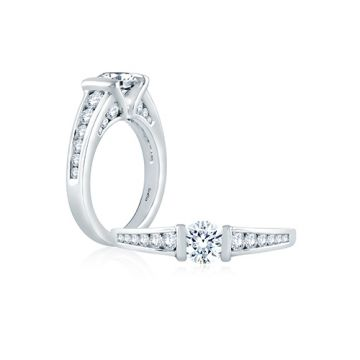 Fire & Ice Chloe Diamond Straight Engagement Ring