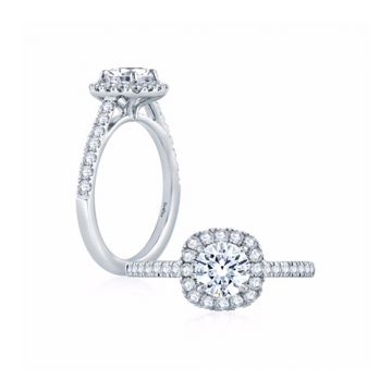 Fire & Ice Riley Diamond Halo Engagement Ring