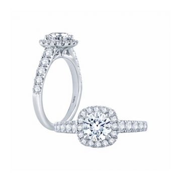 Fire & Ice Sophia Diamond Halo Engagement Ring