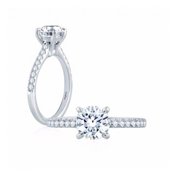 Fire & Ice Harper Diamond Straight Engagement Ring