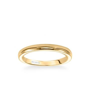 ArtCarved Rachel Contemporary Polished Wedding Band in 18k Yellow Gold