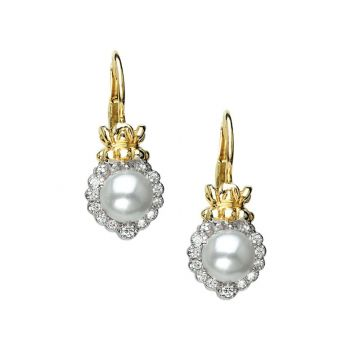 Alwand Vahan 14k Yellow Gold & Sterling Silver Pearls Earrings