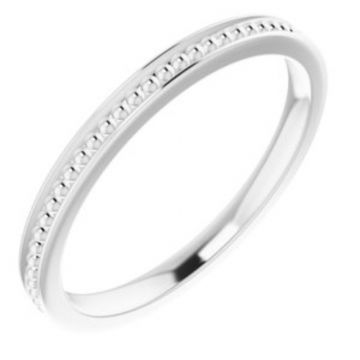 Sterling Silver Stackable Bead Ring Size 7