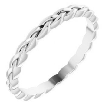Platinum 2 mm Woven Band Size 7
