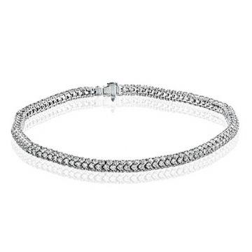 Simon G. 18k White Gold Modern Enchantment Diamond Bracelet