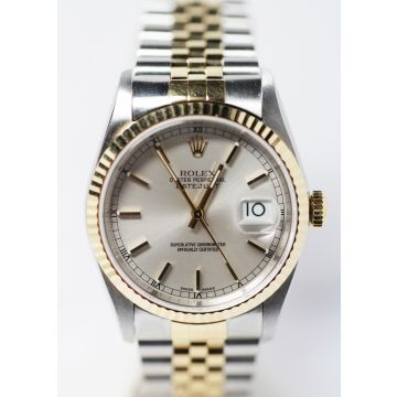 Pre-Owned Stainless Steel and 18K Yellow Gold Rolex Datejust Watch #16233