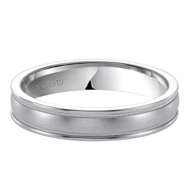 ArtCarved 14k White Gold Ladies Wedding Band