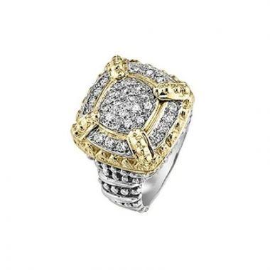 Alwand Vahan 14k Yellow Gold & Sterling Silver Pave Diamonds Ring