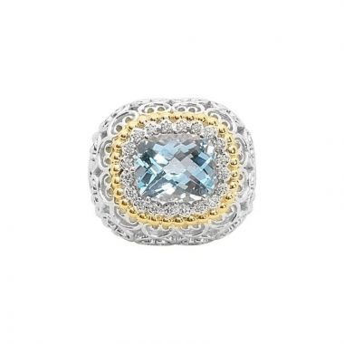 Alwand Vahan 14k Yellow Gold & Sterling Silver Blue Topaz Ring