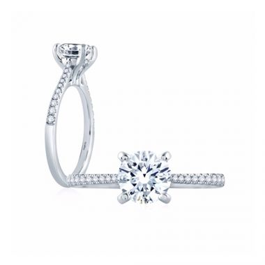 Fire & Ice Lily Diamond Straight Engagement Ring