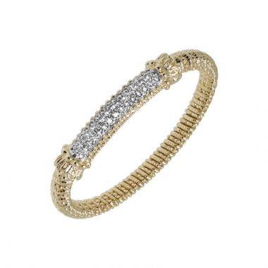 Alwand Vahan 14k Yellow Gold Pave Bar Bracelet
