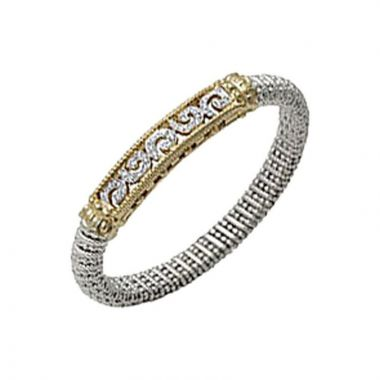 Alwand Vahan 14k Yellow Gold & Sterling Silver Bracelet Diamonds