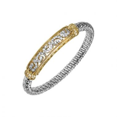 Alwand Vahan 14k Yellow Gold & Sterling Silver 6 Diamond Bracelet