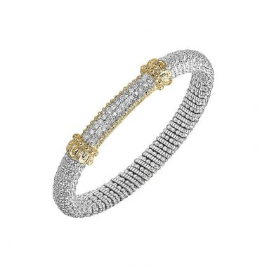 Alwand Vahan 14k Yellow Gold & Sterling Silver Pave Bracelet