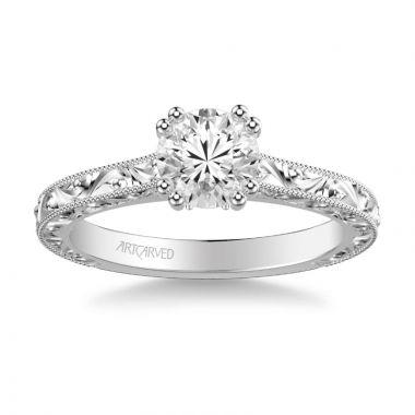 ArtCarved Platinum Bernadette Vintage Solitaire Engagement Ring