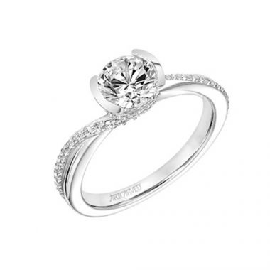 ArtCarved Bypass Diamond Engagement Ring