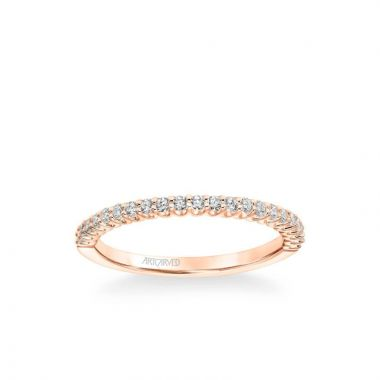 ArtCarved Melissa Classic Diamond Wedding Band in 18k Rose Gold