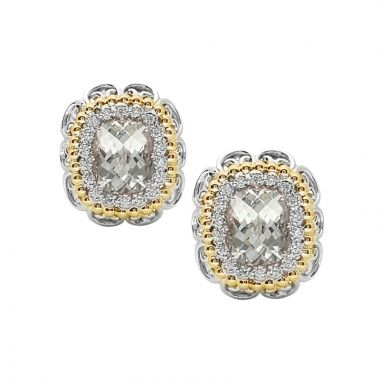 Alwand Vahan 14k Yellow Gold & Sterling Silver Clear Quartz Diamond Earrings