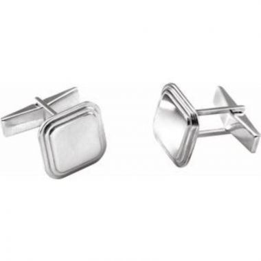 Posh Mommy?? Engravable Square Cuff Links