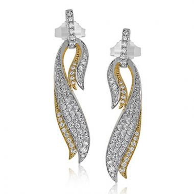 Simon G. 18k Two Tone Gold Garden Earrings