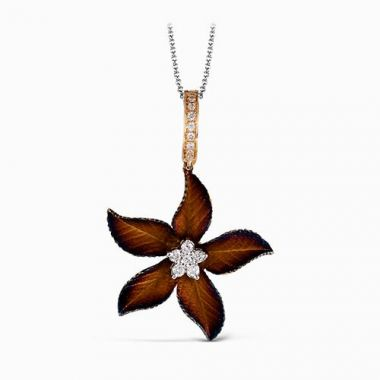 Simon G. 18k Yellow Gold Diamond Pendant