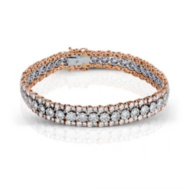 Simon G. Two-Tone 18k Gold and Diamond Bracelet