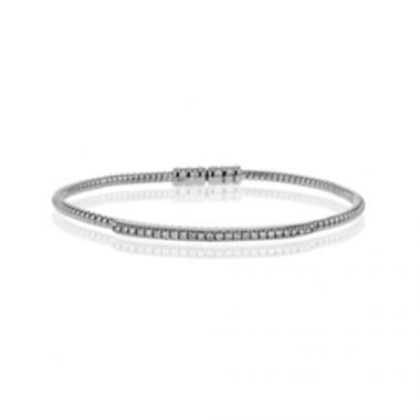Simon G. 18k White Gold Diamond Bangle Bracelet