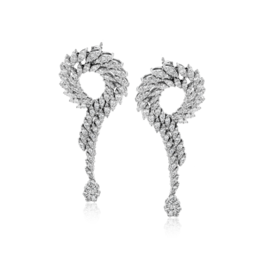 Simon G. 18k White Gold Diamond Earrings