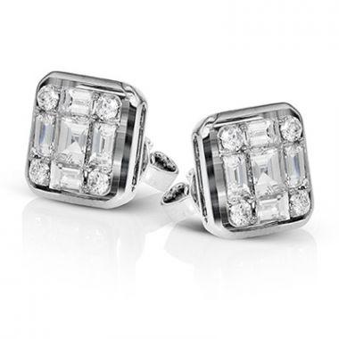 Simon G. 18k White Gold Earrings