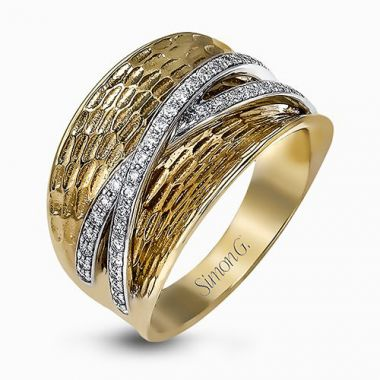 Simon G. 18k Two-Tone Gold Diamond Ring