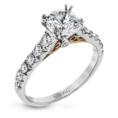 Simon G. 18k White Gold Passion Diamond Straight Engagement Ring