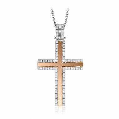 Simon G. 18k Two-Tone Gold Diamond Pendant