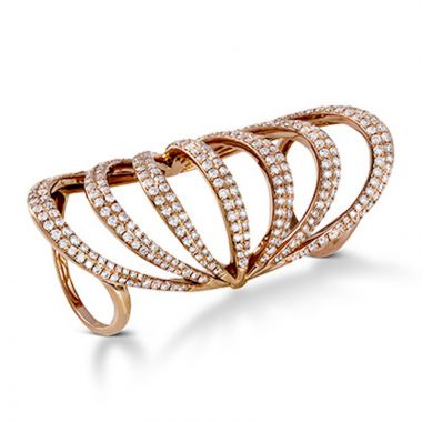 Simon G. 18k Rose Gold Modern Enchantment Diamond Ring