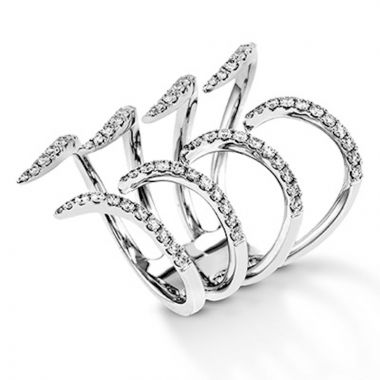 Simon G. 18k White Gold Modern Enchantment Diamond Ring