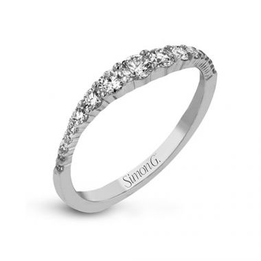 Simon G. 18k White Gold Diamond Right Hand Ring