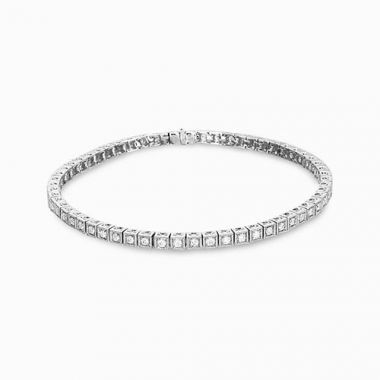 Simon G. 18k White Gold Diamond Bracelet