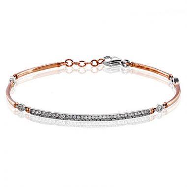 Simon G. 18k Two Tone Gold Classic Romance Diamond Bracelet