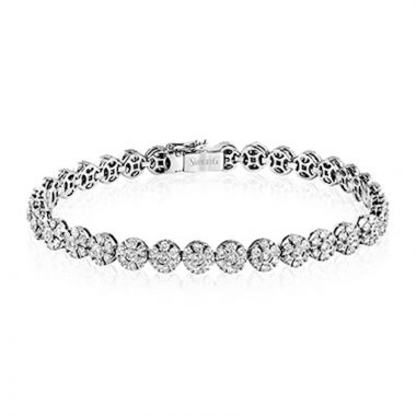 Simon G. 18k White Gold Modern Enchantment Diamond Bracelet
