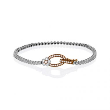 Simon G. 18k Two-Tone Gold Diamond Bracelet