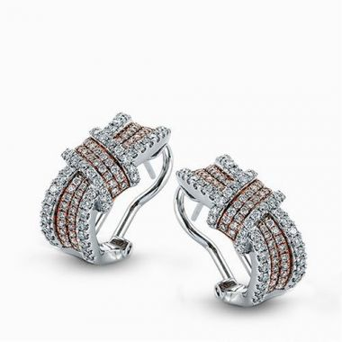 Simon G. 18k Two-Tone Gold Diamond Earrings