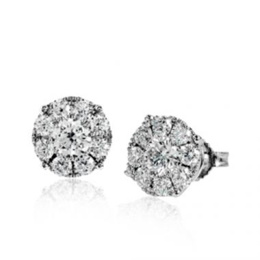 Simon G. 18k White Gold Diamond Stud Earrings