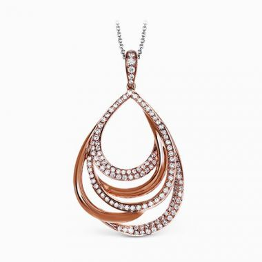 Simon G. 18k Rose Gold Diamond Pendant