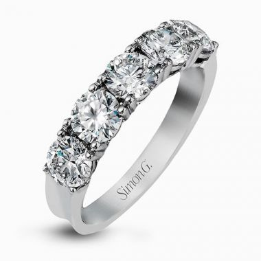 Simon G.  Platinum Diamond Wedding Band
