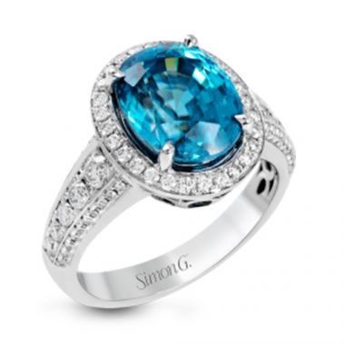Simon G. 18k White Gold Diamond and Gemstone Ring