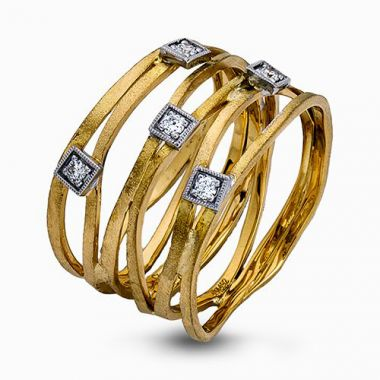 Simon G. 18k Yellow Gold Diamond Ring