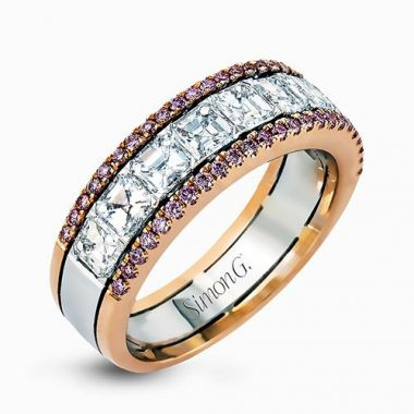 Simon G. 18k Two-Tone Gold Diamond Wedding Band