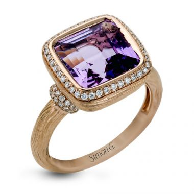 Simon G. 18k Rose Gold Diamond Ring