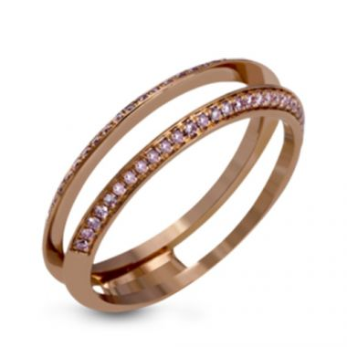 Simon G. 18k Rose Gold Diamond Wedding Band